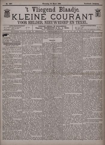 Vliegend blaadje : nieuws- en advertentiebode voor Den Helder 1886-03-24