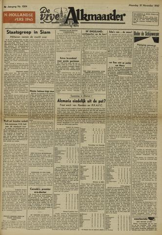 De Vrije Alkmaarder 1947-11-10