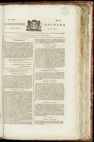 Alkmaarsche Courant 1820-05-01