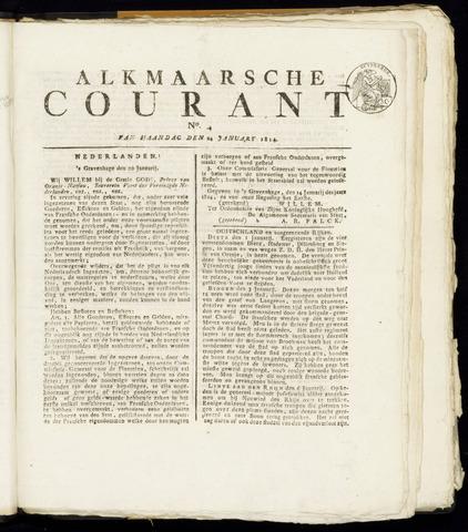 Alkmaarsche Courant 1814-01-24