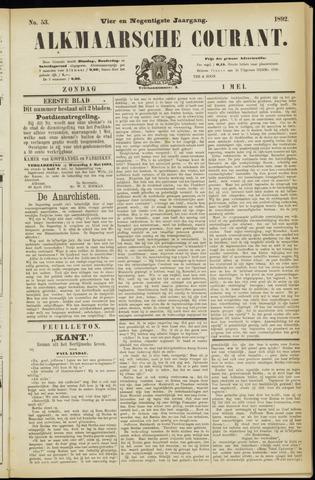 Alkmaarsche Courant 1892-05-01