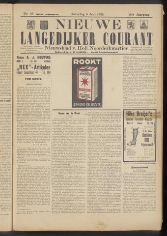 Nieuwe Langedijker Courant 1928-06-09