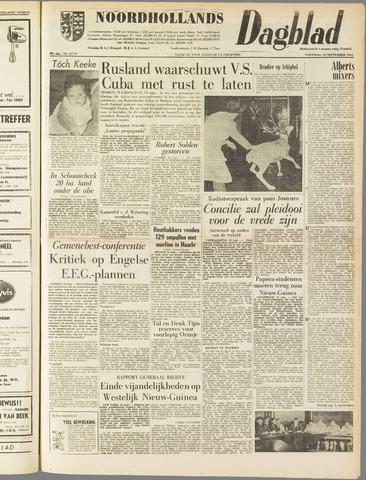 Noordhollands Dagblad : dagblad voor Alkmaar en omgeving 1962-09-12