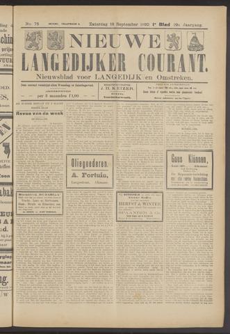 Nieuwe Langedijker Courant 1920-09-18
