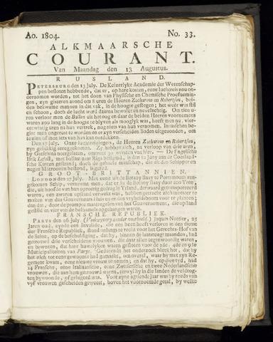 Alkmaarsche Courant 1804-08-13