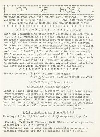 Op De Hoek, weekblad voor Akersloot 1964-09-18
