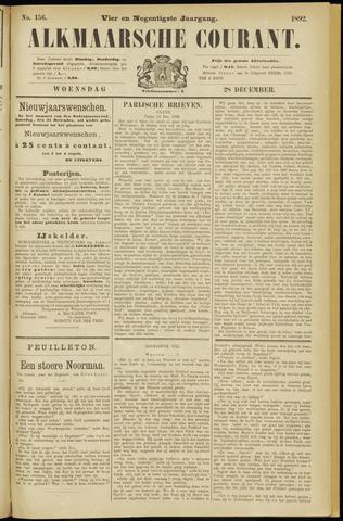 Alkmaarsche Courant 1892-12-28