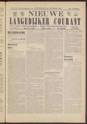 Nieuwe Langedijker Courant 1930-10-30