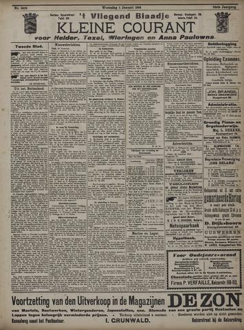 Vliegend blaadje : nieuws- en advertentiebode voor Den Helder 1908-01-01