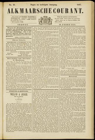 Alkmaarsche Courant 1887-02-18