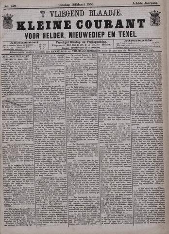 Vliegend blaadje : nieuws- en advertentiebode voor Den Helder 1880-03-16