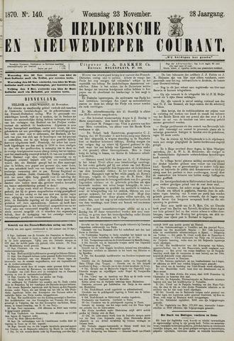 Heldersche en Nieuwedieper Courant 1870-11-23