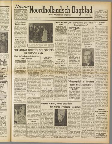 Nieuw Noordhollandsch Dagblad : voor Alkmaar en omgeving 1947-01-17