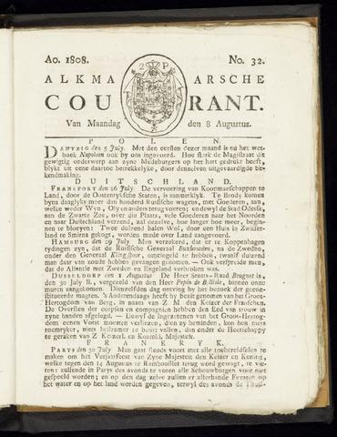 Alkmaarsche Courant 1808-08-08