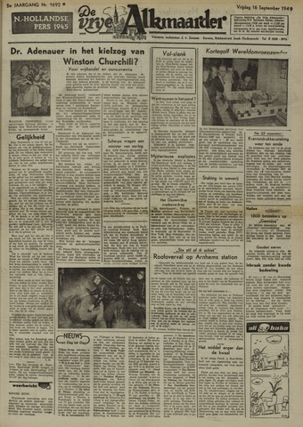 De Vrije Alkmaarder 1949-09-16