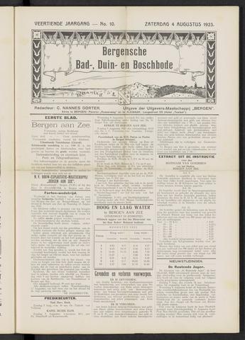 Bergensche bad-, duin- en boschbode 1923-08-04
