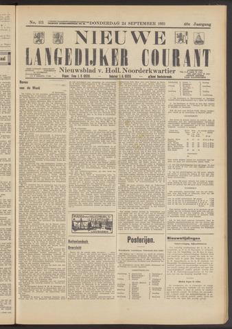 Nieuwe Langedijker Courant 1931-09-24