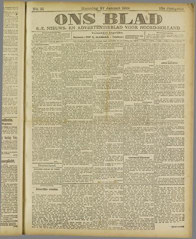 Ons Blad : katholiek nieuwsblad voor N-H 1919-01-27
