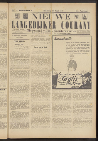 Nieuwe Langedijker Courant 1927-06-18