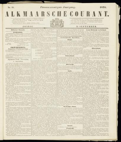 Alkmaarsche Courant 1870-09-25