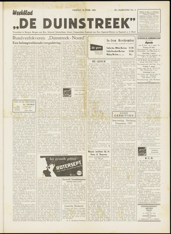 De Duinstreek 1958-02-28