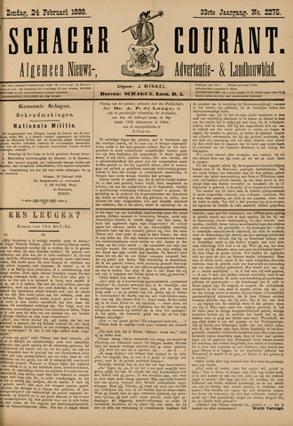 Schager Courant 1889-02-24