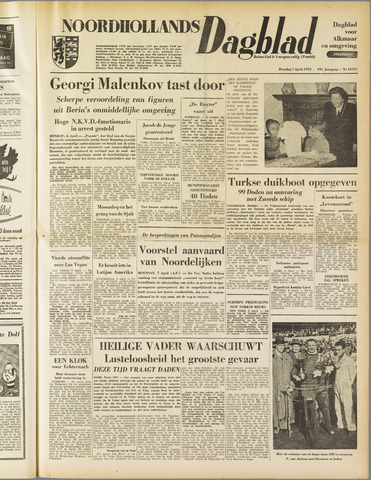 Noordhollands Dagblad : dagblad voor Alkmaar en omgeving 1953-04-07
