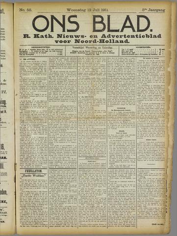 Ons Blad : katholiek nieuwsblad voor N-H 1911-07-12