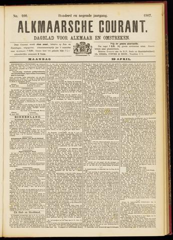 Alkmaarsche Courant 1907-04-29