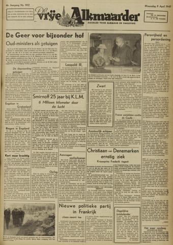 De Vrije Alkmaarder 1947-04-09