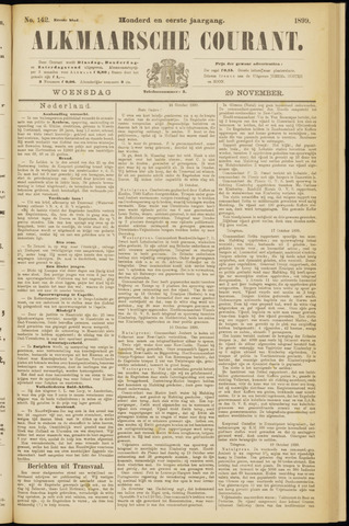 Alkmaarsche Courant 1899-11-29