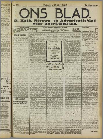 Ons Blad : katholiek nieuwsblad voor N-H 1913-10-18