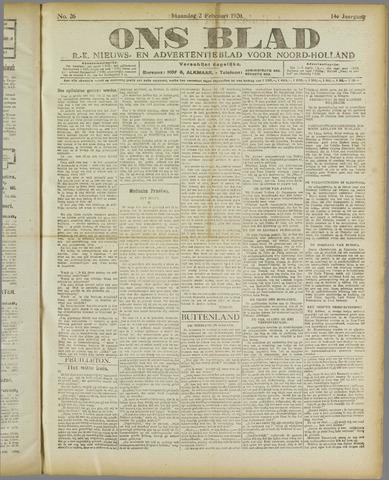 Ons Blad : katholiek nieuwsblad voor N-H 1920-02-02