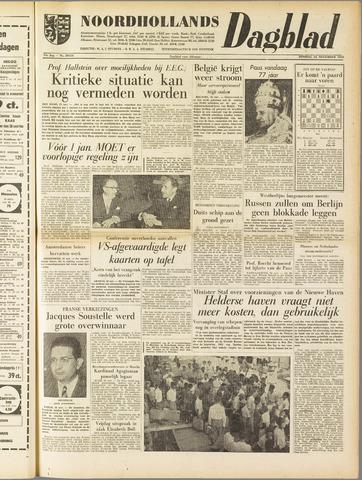 Noordhollands Dagblad : dagblad voor Alkmaar en omgeving 1958-11-25