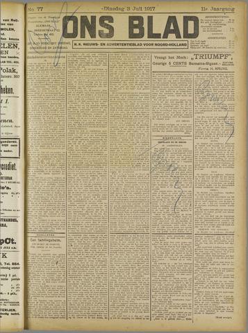 Ons Blad : katholiek nieuwsblad voor N-H 1917-07-03