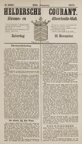 Heldersche Courant 1871-11-25