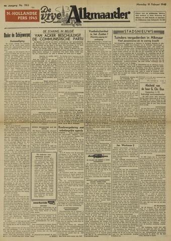 De Vrije Alkmaarder 1948-02-16