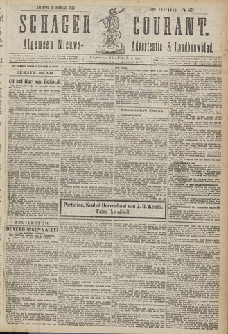 Schager Courant 1920-02-28