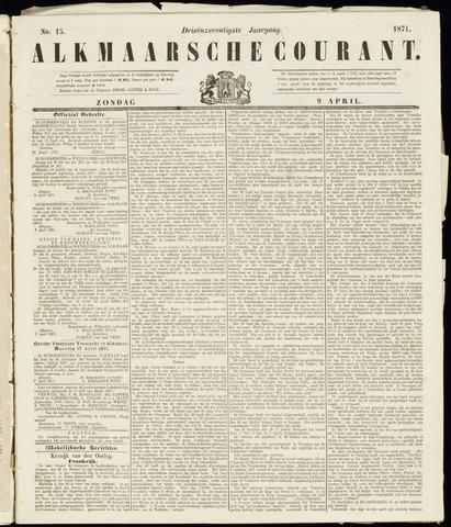 Alkmaarsche Courant 1871-04-09