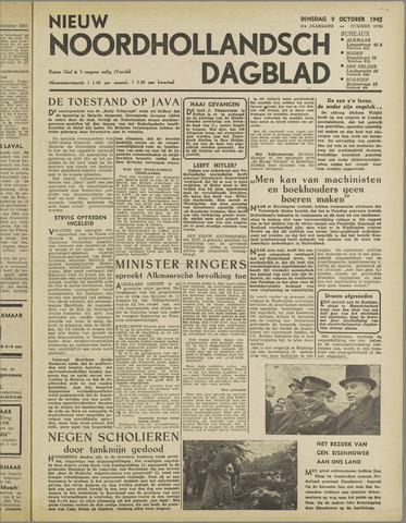Nieuw Noordhollandsch Dagblad : voor Alkmaar en omgeving 1945-10-09