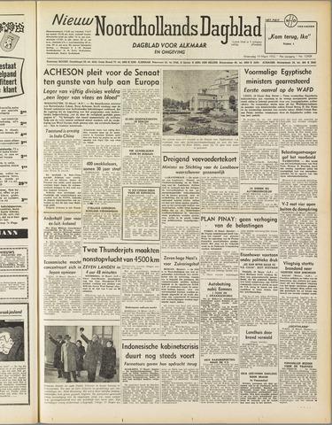 Nieuw Noordhollandsch Dagblad : voor Alkmaar en omgeving 1952-03-19