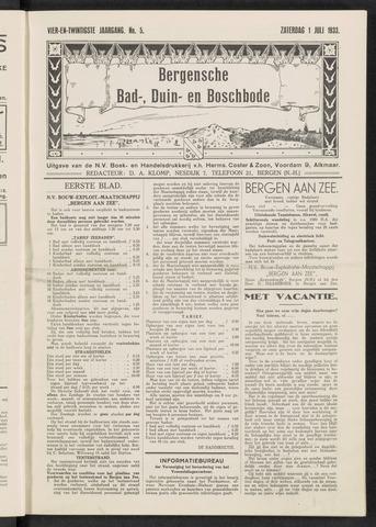 Bergensche bad-, duin- en boschbode 1933-07-01