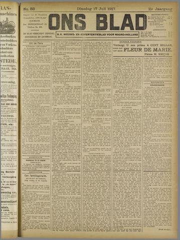 Ons Blad : katholiek nieuwsblad voor N-H 1917-07-17