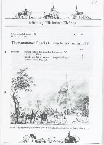 Informatieblad stichting Historisch Niedorp 1999-05-01