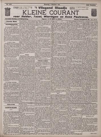 Vliegend blaadje : nieuws- en advertentiebode voor Den Helder 1913-02-01