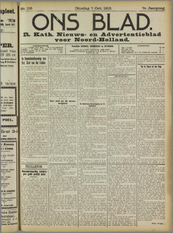 Ons Blad : katholiek nieuwsblad voor N-H 1913-10-07