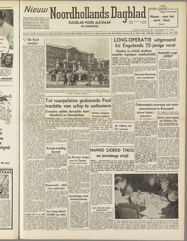 Nieuw Noordhollandsch Dagblad : voor Alkmaar en omgeving 1951-09-24