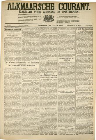 Alkmaarsche Courant 1930-01-22