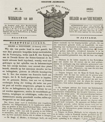 Weekblad van Den Helder en het Nieuwediep 1851-01-27