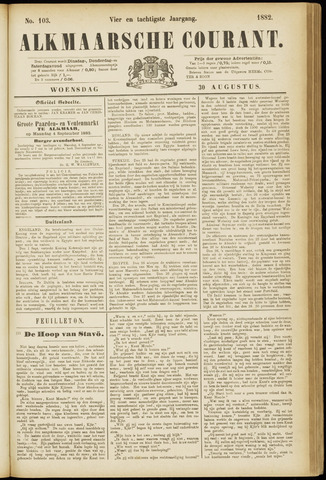 Alkmaarsche Courant 1882-08-30
